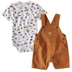Carhartt Infant/Toddler Wilderness Shortall Set