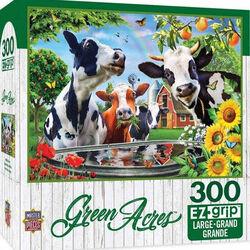 "Green Acres EZ Grip Linen Textured Puzzle - ""Moo Love"""