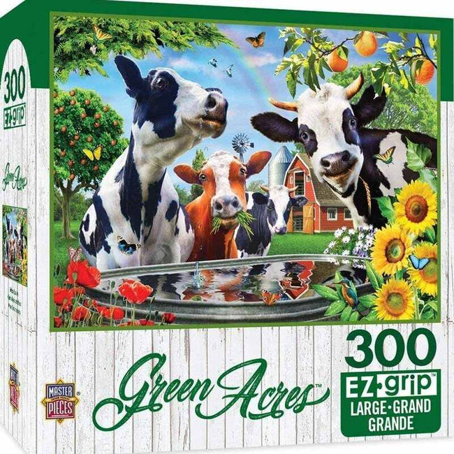 """Green Acres EZ Grip Linen Textured Puzzle - """"Moo Love"""" image number null"""