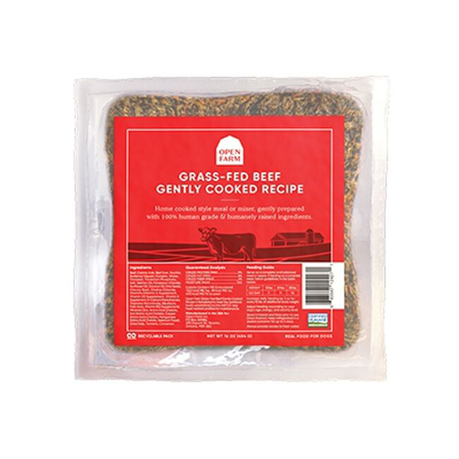 Open Farm Grass-Fed Beef Gently Cooked Recipe Frozen Dog Food image number null