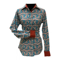RHC Equestrian Ladies Easy Care Show Shirt With Accent Collar And Cuffs