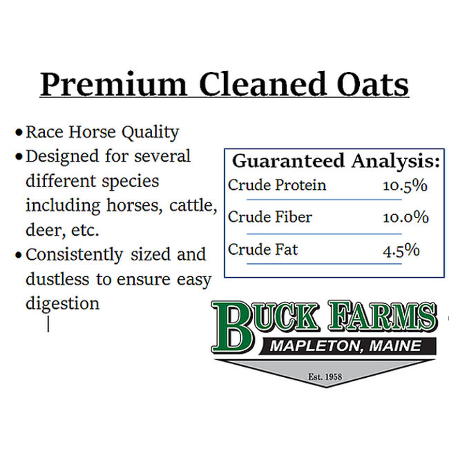 Buck Farms Whole Oats image number null