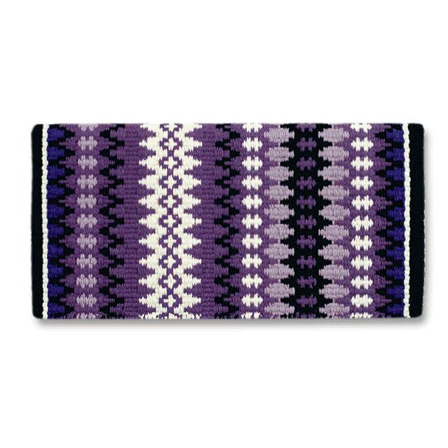 "Mayatex Nova 38""x34"" Wool Competition Series Show Blanket-Black/Show Purple/Soft Purple/Lavender/Cream image number null"