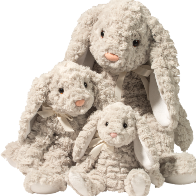 Douglas Renee Gray Bunny Pudgie Plush Toy image number null