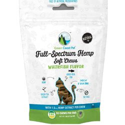 Green Coast Pet Full-Spectrum Soft Chews for Cats Whitefish Flavor 1.6 oz