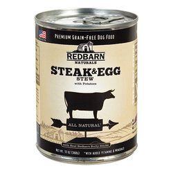 Redbarn Natural Grain-Free Steak & Egg Recipe Stew Canned Dog Food 13 oz