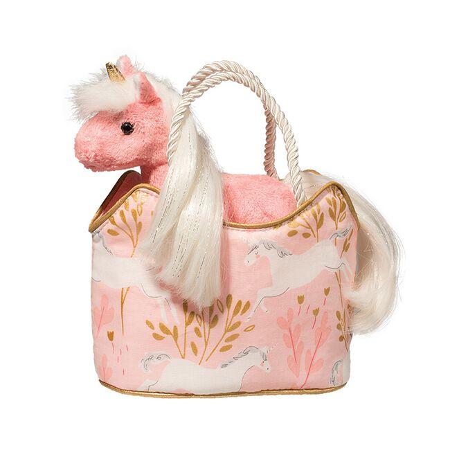 Douglas Sassy Sak Princess Unicorn Plush Toy & Tote image number null