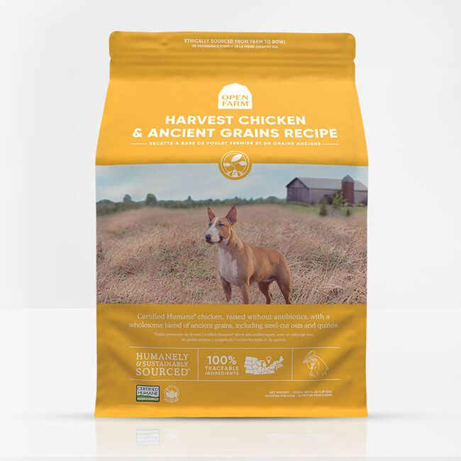 Open Farm Harvest Chicken & Ancient Grains Dry Dog Food - 4lb image number null