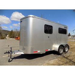 Rental Trailer - 2019 Shadow StableMate 2-Horse Straight Load Bumper Pull Trailer
