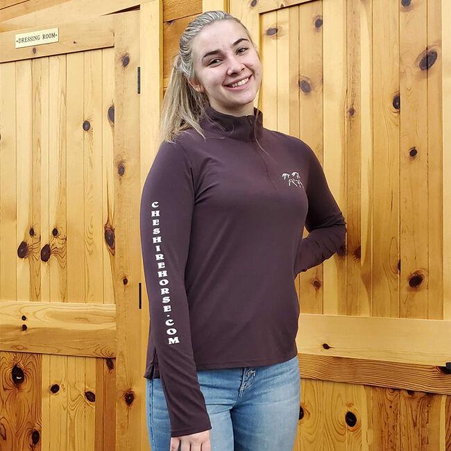 Cheshire Horse Ladies Fudge Carhartt Delmont 1/4 Zip Mock Neck Shirt image number null