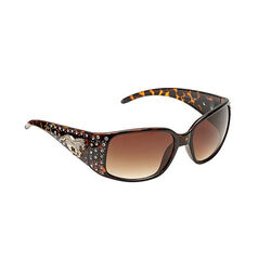 AWST Rhinestone Horse Sunglasses - Brown