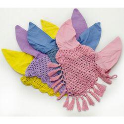 Horse Fare Crochet Ear Net With Tassels