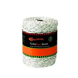 """Gallagher Turbo Braid 3/16"""" Poly Rope Electric Fencing"""