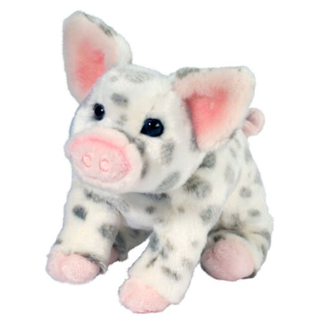 Douglas Pauline Small Spotted Pig Plush Toy image number null