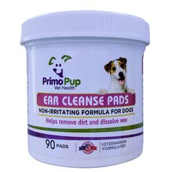 Primo Pup Ear Cleanse Pads for Dogs 90 ct