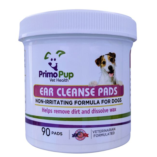 Primo Pup Ear Cleanse Pads for Dogs 90 ct panel image number null