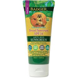 Badger Organic Sunscreen Bug Repellent SPF 34
