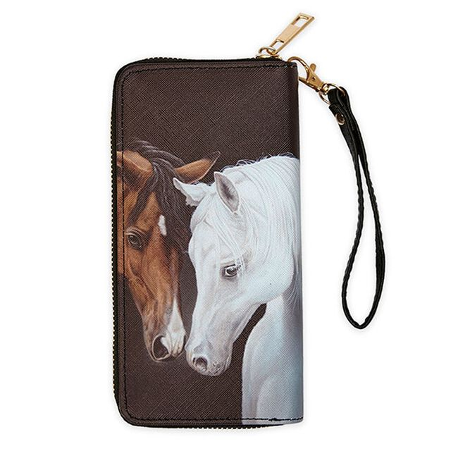 AWST Gray & Bay Horse Head Wallet image number null