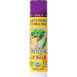 Badger Balm Classic Organic Lip Balm, Lavender Orange