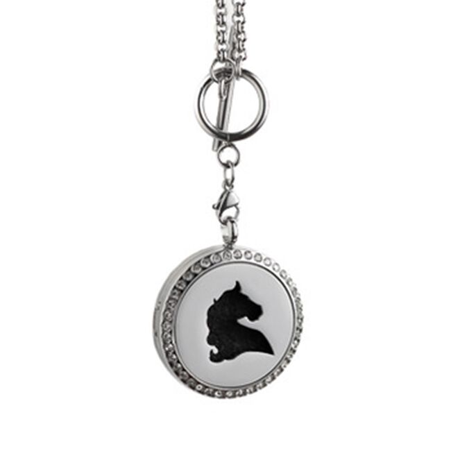 Annie Oakley Horse Head Aroma Locket Necklace image number null