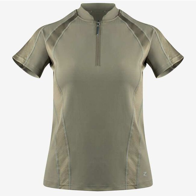 Horze Aliza Women's Training Shirt - Ashen Clay image number null