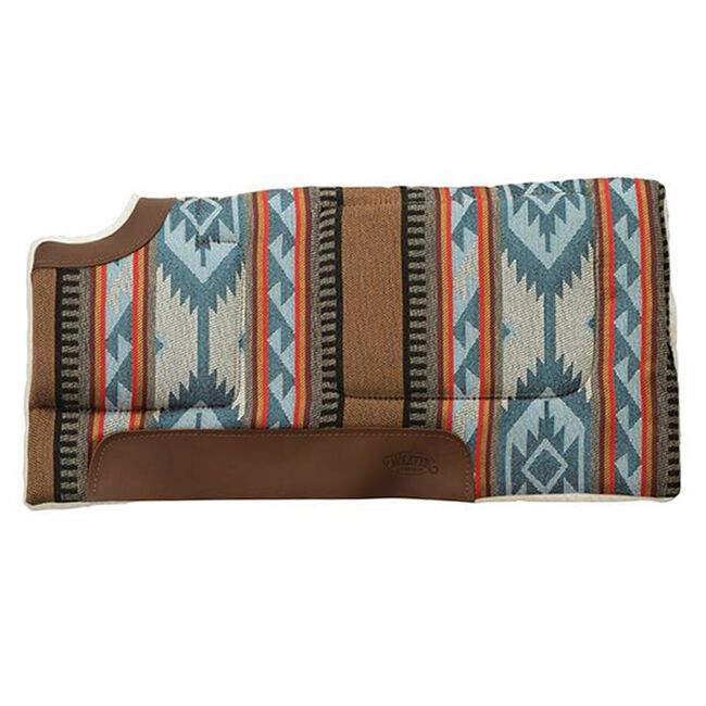 Weaver Leather All Purpose Built-Up Cut Back Saddle Pad - Blue/Brown image number null