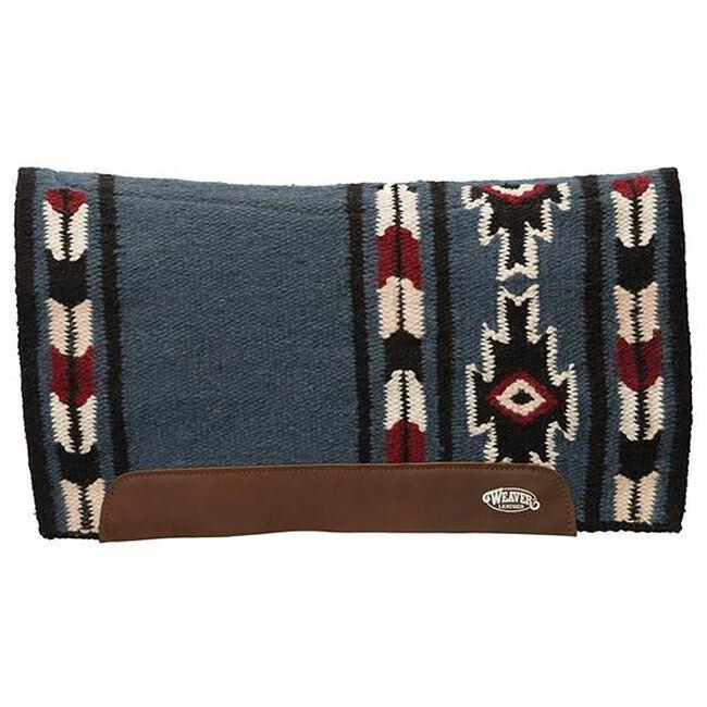 Weaver Leather Flex Contour Wool Blend Felt Saddle Pad - Cream/Navy image number null