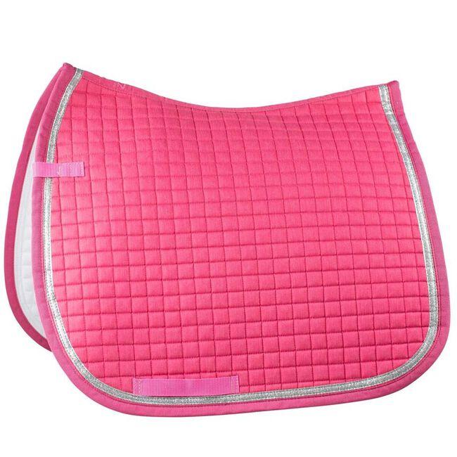 Horze Thun Dressage Saddle Pad - Shocking Pink image number null