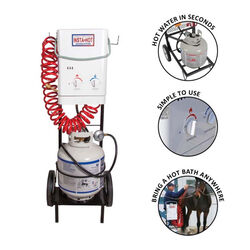 Insta-Hot Portable Equine Washing System with Cart and Basket