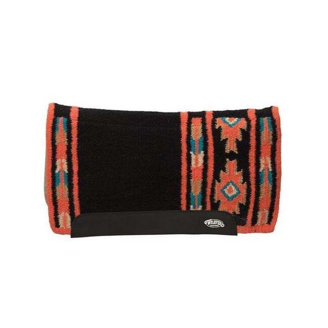 Weaver Leather Flex Contour Wool Blend Felt Saddle Pad - Navy/Red image number null