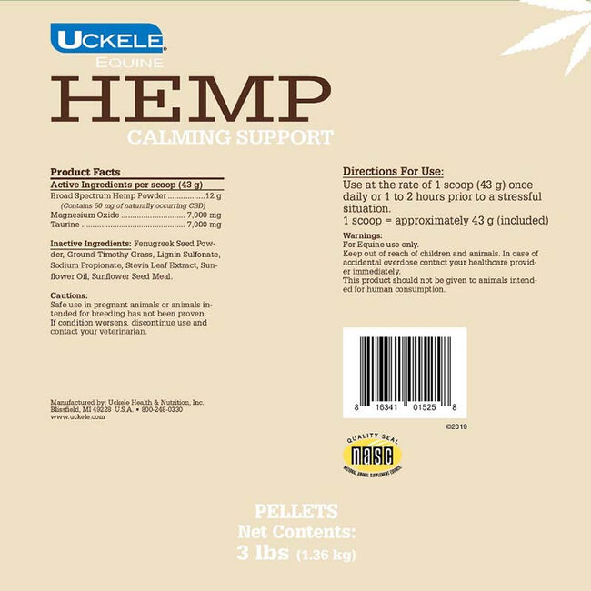 Uckele Hemp Calming Support 3 lb image number null