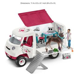 Schleich Mobile Vet with Hanoverian Foal Play Set Kids' Toy