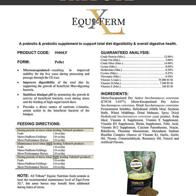 Tribute Equi-Ferm XL Prebiotic & Probiotic Supplement image number null