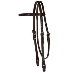 """Circle Y 5/8"""" Floral Tooled Browband Headstall"""