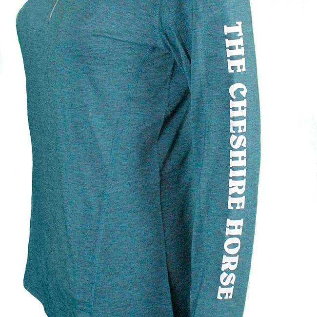 Cheshire Horse Ladies Dark Teal Heather Carhartt Force 1/4 Zip Shirt image number null