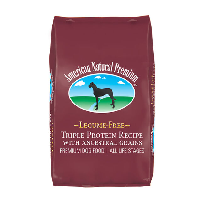 American Natural Premium Legume Free Triple Protein Recipe with Ancestral Grains Dog Food image number null