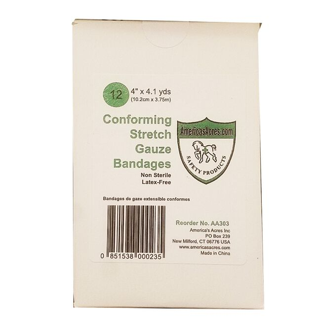 America's Acres Conforming Stretch Gauze Bandages 12 Pack image number null
