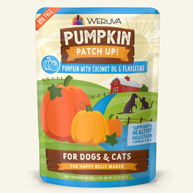 Weruva Pumpkin Patch Up Pumpkin w/ Coconut Oil & Flaxseeds Supplement for Cats & Dogs - 2.8 oz image number null
