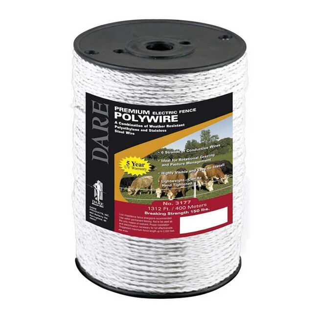 Dare Electric Fence Wire 1312 White image number null