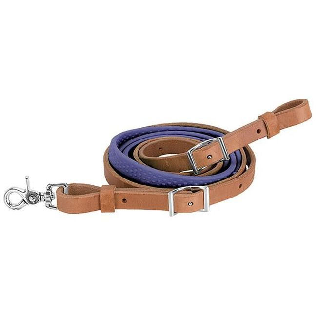 Weaver Leather Barrel Rein with Rubber Grip - Purple image number null