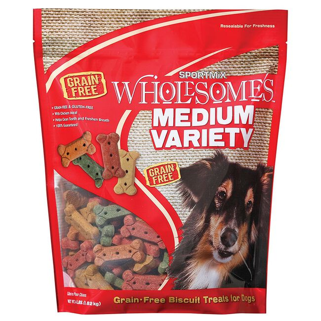 Sportmix Wholesomes Variety Dog Biscuit Treats - Medium (4lb) image number null