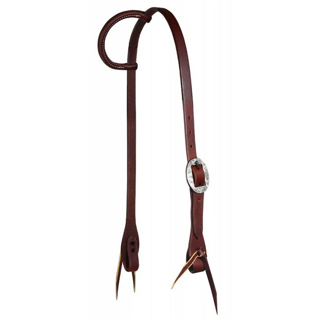"""Professional's Choice Ranch 3/4"""" Single Ear Headstall - German Silver image number null"""