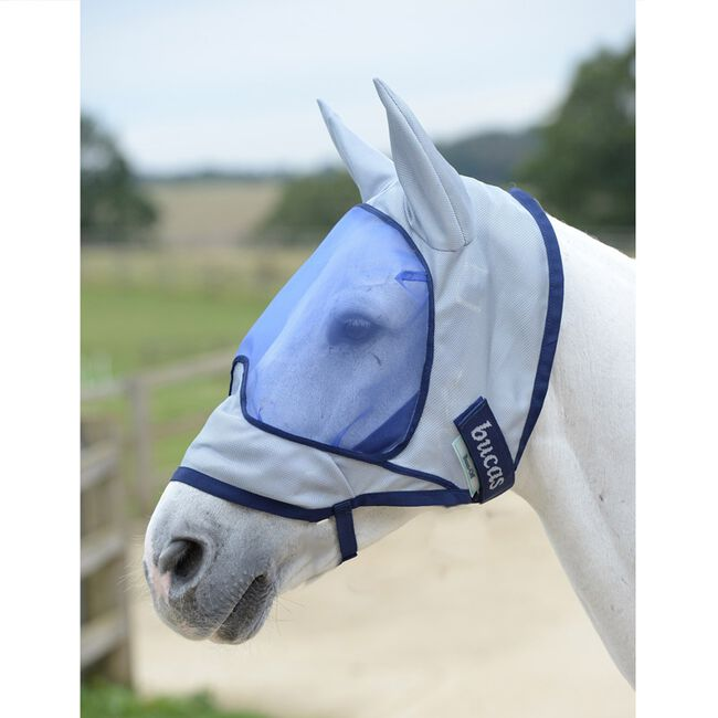 Bucas Buzz-Off Deluxe Fly Mask, With Ears image number null