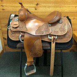 Used Jim Taylor Arno Honstetter Western Reining Saddle