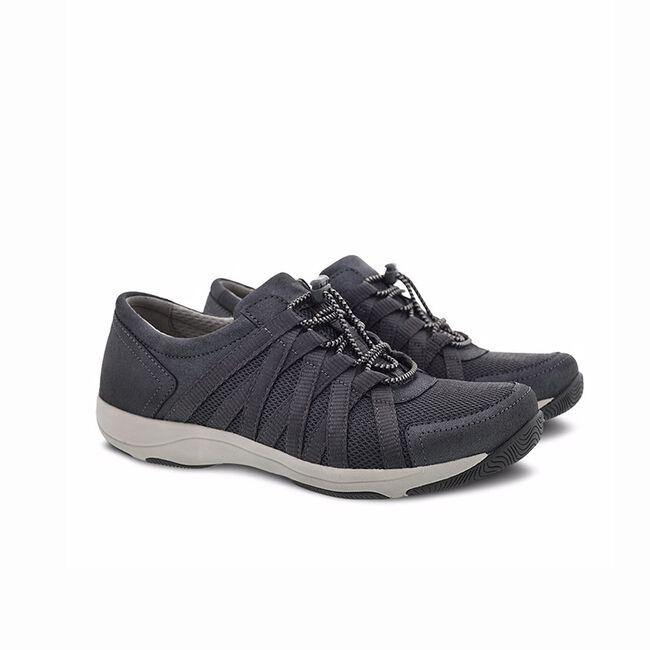 Dansko Honor Suede Sneaker-Charcoal/Metallic-36 image number null