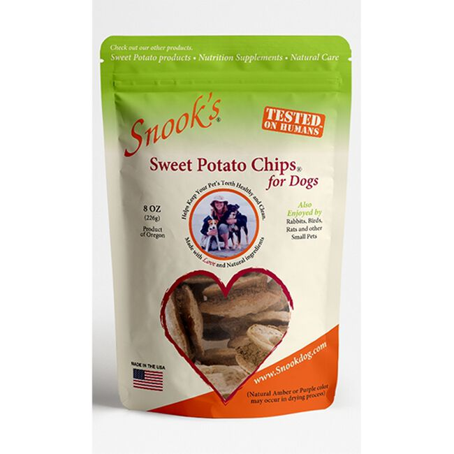 Snook's Sweet Potato Chips for Dogs - 8oz image number null