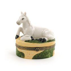 GT Reid White Horse Hinged Box