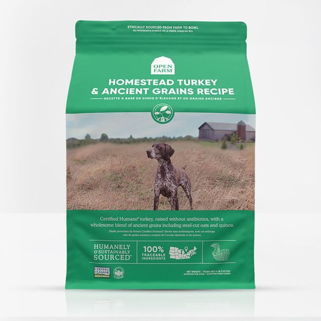 Open Farm Homestead Turkey & Ancient Grains Dry Dog Food - 4lb image number null