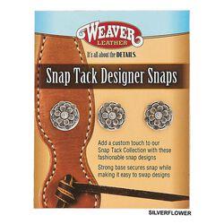 Weaver Designer Snap Set, Silver Floral