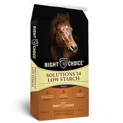Kalmbach Right Choice Solutions 14 Low Starch Pelleted Equine Feed